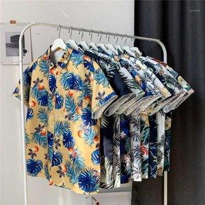 2020 Verão Mens Camisas Havaí Tropical Moda Sandy Beach Esportes Homens Homens Hip Hop Trend Attire Casual Mens1