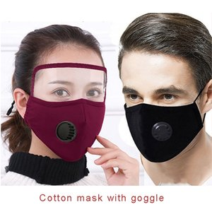 2020 designer Kids Cotton Cloth PM2.5 Washable Face Mask with Goggle Anti-dust Mask Colorful Non-Woven Fabric Children Cloth Masks