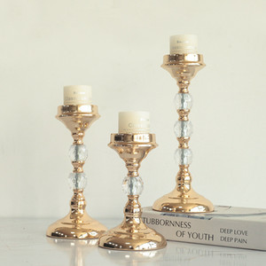 Metal Candle Holders Gold Candle Stand Fashion Wedding Exquisit Table Candlestick Party Home Decoration