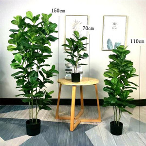 Home garden decoration artificial plant bonsai Qin Yerong green small tree fake flower potted ornaments
