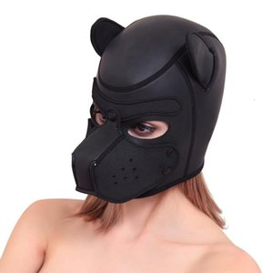 SM T191028 Bdsm Sex Negozio Cani testa maschera Bondage Coppie Flirtare traspiranti Cosplay Giochi giocattolo adulto del sesso Prodotti SM T191028 Bdsm Sex Dog Engn