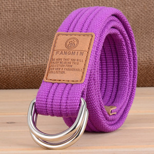 20Men Women Canvas Belt Webbing D Ring Buckle Woven Army Waistband Combat