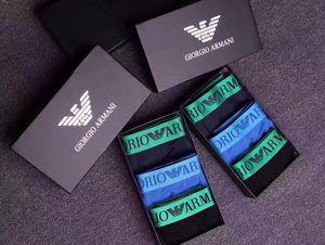 ARMANI-Männer Unterwäsche Boxer Slips Neueste Zug in Unterwäsche-Mann-Boxer Mischfarben Qualität Unterwäsche Männer der reizvollen Männer Boxershorts