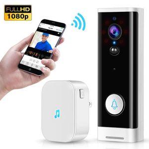 Türklingel WIFI-Video-Türklingel 1080p Wireless-Smart-Sicherheits-Kamera Türglocke 2-Wege-Gespräch PIR-Bewegungserkennung Nachtsicht Tuya Intercom1