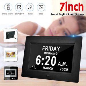 Display multifunzione Digital Photo Frame HD Smart Alarm Clock LED Clocks Photo Album Uk Pillole multifunzione Plug Adapter Remind