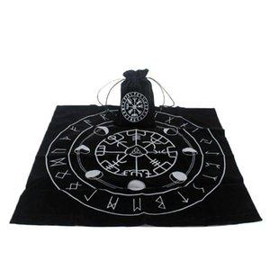 hotstore2010 Pad Nueva tarjeta de Tarot Tarot mantel con bolsa de la runa de la fase lunar Wicca Altar Adivinación Juego de mesa de terciopelo de la vendimia bbyTfu