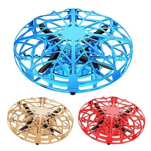 Fast Shipping Mini Drone UFO Hand Operated RC Helicopter Quadrocopter Dron Infrared Induction Aircraft Flying Ball Toys For Kids