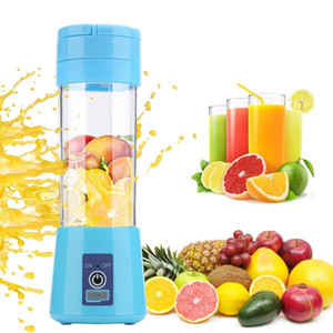 Portable Fruit Juicer 380ml 6 Blades Portable Electric Home USB Rechargeable Smoothie Maker Blenders Machine Bottle Juicing Cup GGE2218