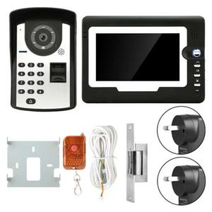 doorbell camera 7in LCD Display Password Fingerprint Video Door Visual Intercom Doorbell with NO Lock mirilla digital