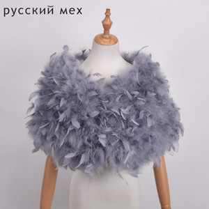 Real Ostrich Fur Shawls Elegant White Ostrich Feather Coats Wedding Fur Boleros Bridal Shawls Jackets for evening dresses 201018