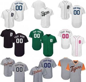Benutzerdefinierte Mens Womens Jugend DetroitTiger Baseball-Trikots Weiß Navy Grau Blau Rot Nähed Jeder Name Jede Nummer Hemden Jersey
