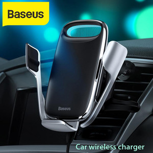 Baseus 15W Car Fast Charger QI Wireless Charger For 11 Android Wirless Charging Car Phone Holder Stand