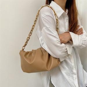 2020 neue Single Schulter Achsel-Tasche dicke Kette Folds Wolke Tasche Temperament Essentiell für Einkauf
