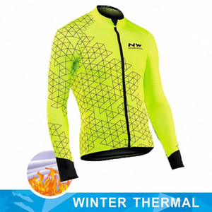 NW 2019 équipe Pro Cycling Hommes Vestes d'hiver Toison thermique Jersey Faire du vélo Réchauffez VTT Vélo Vêtements Veste Northwave 5Y4G #