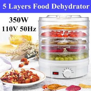 Meyve ve Sebze Jerky Makinası 110V 350W Ev Mini Dehydrator Pet Jerky 5 Tepsi Snack Hava Kurutucu Snack Hava Kurutucu ABD