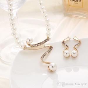 Perlen Schmuck Sets Halskette Frauen Weihnachtsgeschenk Partei Schmuck Hochzeit Jewlery Set ziemlich Satz von decorat