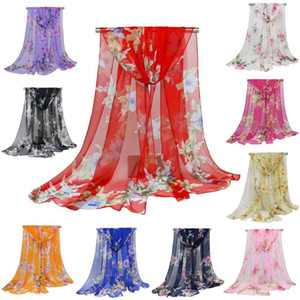 Women New Fashion Chiffon Silk Scarves Square Polyester Printing Scarf Shawls