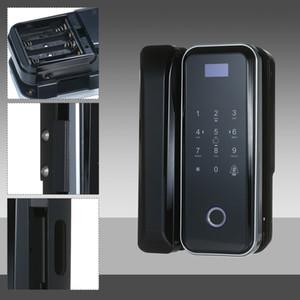 Fingerprint Lock for Glass Door Intelligent Automatic Password Lock Security Door Lock Support by Remote Control Sensor Card