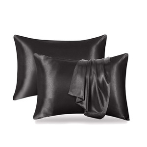 20*26inch Pure Color Silk Satin Pillowcase Cover Home Bedding Smooth Solid Soft Silky Pillowcase