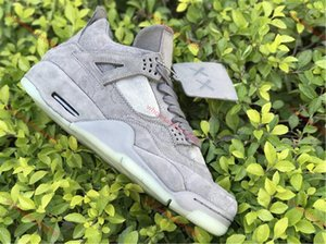 nike KAWS x Air Jordan 4 Cool Grey shoes  حار بيع جودة عالية أصيلة ar حذاء بارد رمادي الأبيض يتوهج في أحذية رجالي كرة السلة أحذية رياضية في الهواء الطلق