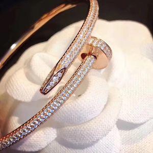 Moda senhora de alta qualidade senhoras de prata rosa ouro homens mulheres diamante gelado fora desenhador de jóias pulseiras cadeias de braceletes