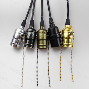 Pendant Lamps 1M Hanging 85-265V E27 With Retro Lamp Holder Cord Zipper Switch For Dining Room Restaurant Coffee Bar DHL