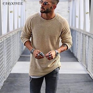 New Arrival Men's Sweater 2021 Autumn Winter Slim Solid Sweater Men Casual Pull Jumper Male Brand Clothing EU Size