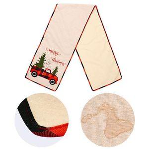 Christmas Table Runner Tablecloth Cotton Linen Table Cover Xmas Tree Flag Table Dress Tablecloth Eating Mat Christmas Decorations HWB2901