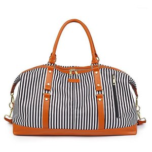 New Printed Travel Bag Stripe Waterproof Portable Travel Bag Simple Fashion Large Capacity1