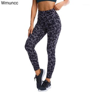 WMUNCC Mujeres Yoga Pantalones Gimnasio Alto Gimnasio Entrenamiento Leggings Fitness Running Sports Bulifting Joggers Impreso1