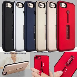 Two in One Hidden Ring Kickstand Phone Case For iPhone 12 11 Pro Max X XR XS 8 7 6 Plus
