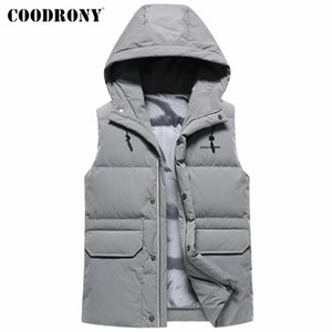 COODRONY Men's Winter Jacket Thick Warm Sleeveless Down Vest New Arrival Fashion Casual Hooded Coat Pockets Brand Clothing Y8057
