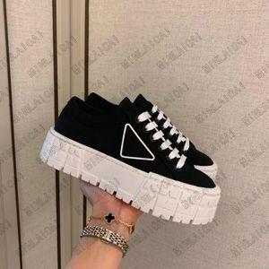 Femme Nylon Low Cut Derbies Sneaker Stealser Semelle Semelle en cuir Plastique Injection Sneakers Entraîneur Runner Dace-Ups Hauteur Augmentation des chaussures