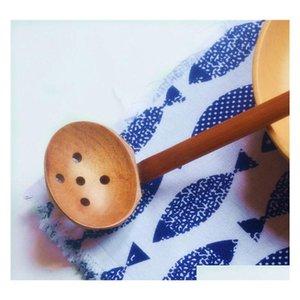2 Стили Вудцентль Суп ложка ложки дуршарные деревянные посуда японский стиль рамен деревянная длинная ручка qylysl my_home2010