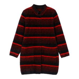 WYWAN 2020 invierno de la chaqueta de imitación de visón terciopelo nuevo estilo occidental amplio dama noble chaqueta de otoño e invierno de las señoras