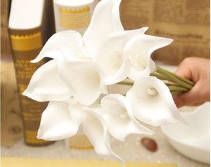 Simulation Calla Lily Artificial Flower PU Real Home Decoration Flowers Wedding Party Valentine's Day Bouquet Flowers GA80
