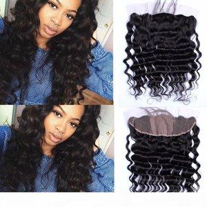 Свободная волна 4x4 Silk Base Lace Фронтальная Дешевые перуанский человеческих волос Silk Top Lace лобные 13x4 Свободные волны Шелковый лобные Закрытие отбеленные узлы
