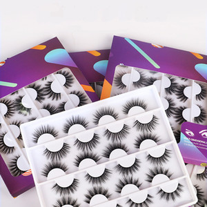 Premium Soft Crisscross 3D Mink Fake Lashes Set 12 Pairs Reusable Handmade False Eyelashes Extensions Eye Makeup Accessories 2 Models DHL