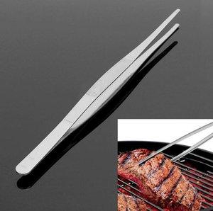 BBQ Food Tweezers Stainless Steel Tweezer Long Straight Tweezer Home Garden Kitchen Barbecue BBQ Tool Accessories SN3393