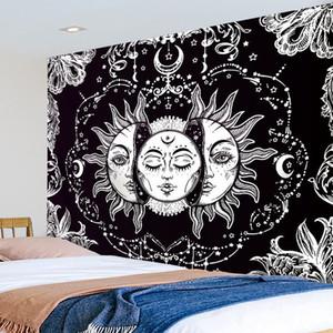 Mandala de la luna de Sun Tapiz Tapiz regalos de habitaciones Flower Hotel tapiz de la decoración de sala de estar Dormitorios