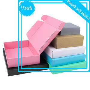 5Pcs 10Pcs Kraft Wholesale Color Package Carton Small gift Prunes White 3Layer Golfed Box Custom size Printed