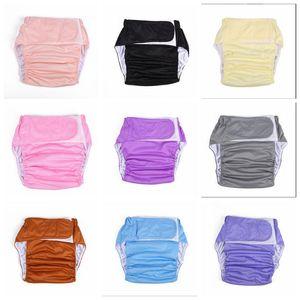 Bezi Yetişkinler Yıkama Bezi Sihirli Sopa Bez Bezi Yaşlı Erkekler Sızdırmaz Bezi Pantolon Şort Kullanımlık Bezi Nefes WMQ411 Kapakları