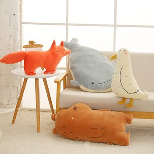 50cm Cute bear fox Plush Toy Stuffed Soft Kawaii Animal Cartoon Pillow Lovely Gift for Kids Baby Children