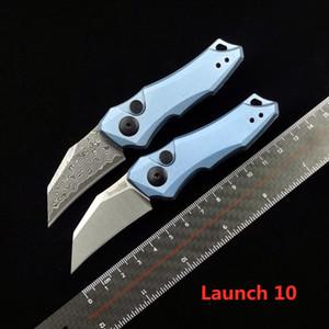 """Kershaw 7350 Lancement 10 AUTO couteau pliant 1,9"""" Stonewashed CPM-154 Hawkbill Blade, gris foncé en aluminium anodisé poignées couteau automatique"""