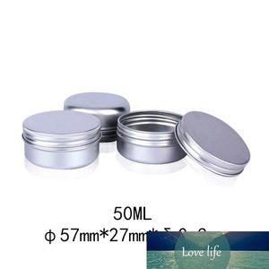 50pcs 50g Aluminum Tin Jars Metal 50ml Empty Cosmetic Face Care Eye Cream Lip Balm Gloss Packaging