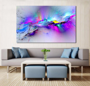 Camera di tela JQhyart Decor Colorful Living Nuvole Immagini Pittura Telaio dell'olio No Wall Art per Abstract Home Jllhy Yummy_Shop