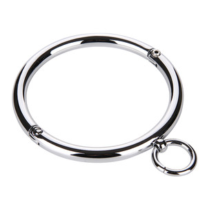 Metal Collar BDSM Bondage Slave Fetish Necklace Stainless Steel Sex Toys for Couples Adult Sex Accessories for Woman Y200410