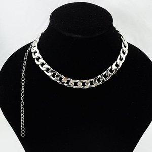 Punk 36 + 20cm wukaka garçon chaîne homme colliers en acier inoxydable bijoux hiphop bijoux bijoux collier homme accessoires cadeau pvlre