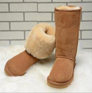 bottes de neige d'hiver chaud en plein air, bottes hautes, bottes de neige en peau de mouton givré pour le confort des femmes, des bottes plates taille 5815-35-42