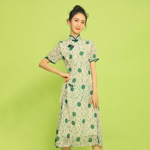 Retro Chinese style modified new cheongsam dress daily young girl cheongsam dress chinese traditional